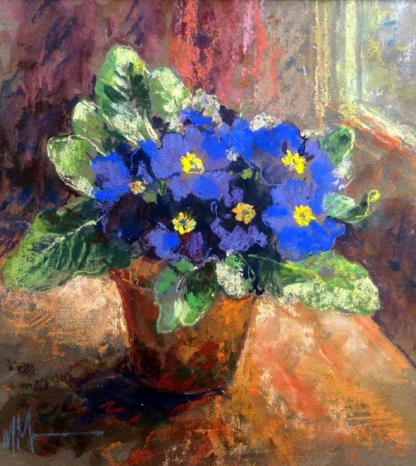 Maureen Jourdan, S.B.A., pastel.