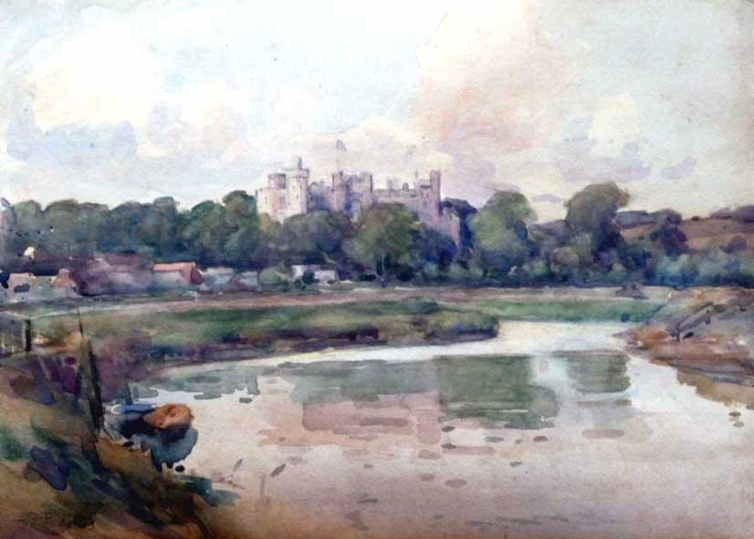Arundel Castle watercolour painting, JC Wallis