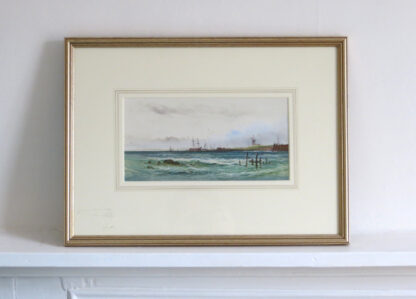 Antique Marine Painting by Arderne Clarence