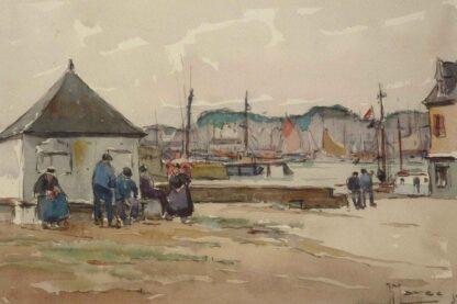 Breton Fishermen Painting