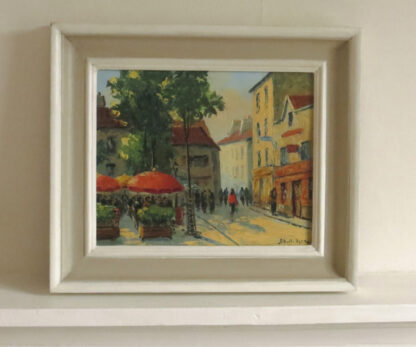 Painting of Paris by Albert Berne, Oils on canvas.