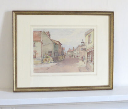 G.W. Collins Watercolour Painting of Leigh-On-Sea