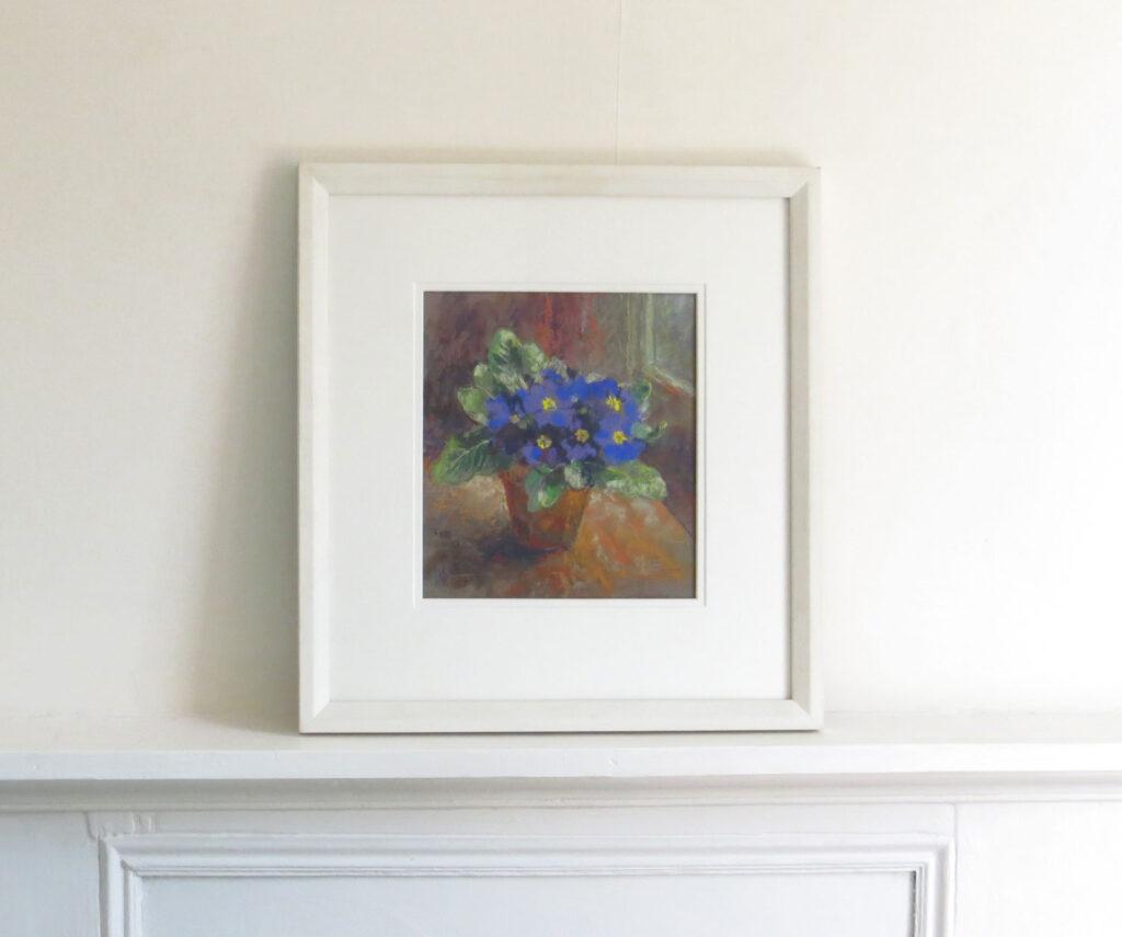 Primroses Flower Painting by Maureen Jourdan