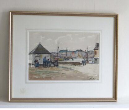 Breton Fishermen, 20th century Watercolour by J. Marce