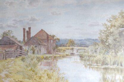 Thomas Hunn watercolour painting of Surrey