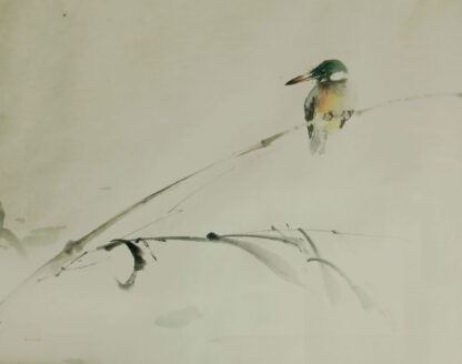 Chinese brush painting of a Kingfisher