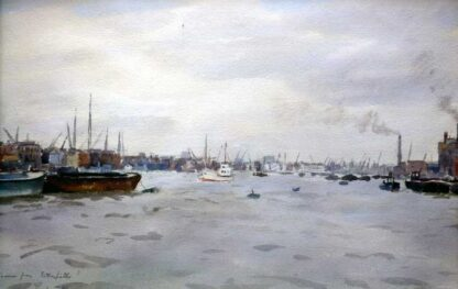 Thames from Rotherhithe, Llewellyn Petley Jones